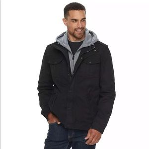 Levi's Shearling Lined Hooded Military Jacket Z8
